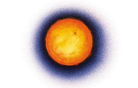 Сонце сонце яскраво жовтого кольору