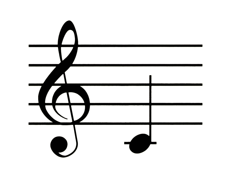 Рисовать ноты на нотном стане